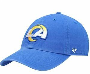 Los Angeles Rams '47 Montego Clean Up Blue Adjustable Hat Dad Cap