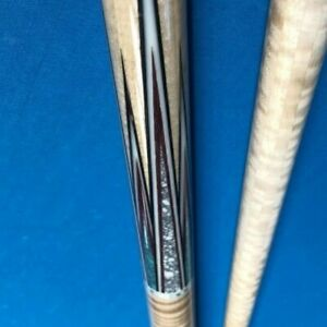 Beautiful Inlayed Carom Cue - Blue and white marble
