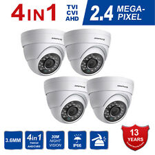 Anpviz (4 set) 2.4MP 4 IN1 TVI AHD CVI CVBS Dome CCTV Camera Full HD Outdoor