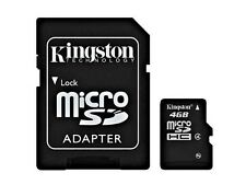 Tarjeta de memoria Kingston micro SD HC 4GB microSD clase 4