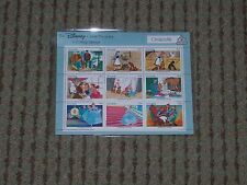 Disney Classic Fairytales Cinderalla Postage Stamps New with COA