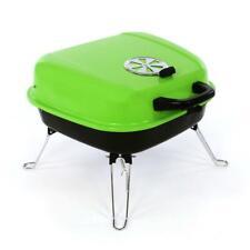 Koffergrill Holzkohlegrill BBQ Partygrill Minigrill grün Barbecue Grill Kohle