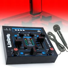 DJ PA Disco Partykeller 4-Kanal Mischpult Mixer USB MP3 Mikrofon Line Living-XXL