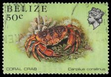 """BELIZE 708 (SG775A) - Marine Life """"Coral Crab"""" (pa55001)"""