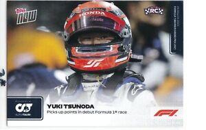 "2021 Topps Now Formula 1 - #003 YUKI TSUNODA Rookie Card "" Picks up point ... """