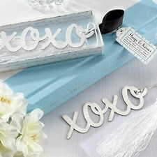 1PCs Stainless Steel XOXO Personalised Bookmark Silver Tone Present Gift