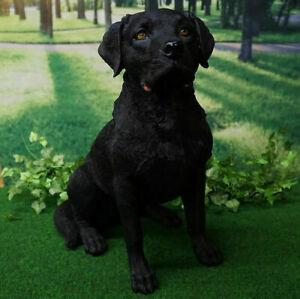 Figur Hund Labrador schwarz 52cm lebensecht handbemalt wetterfest Dekoration