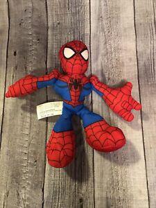 "6"" Hasbro Super Hero Adventures Bean Bag Plush Toy Figure Spiderman Marvel B27"