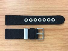 Citizen 59-S51168 Black Nylon & Leather Watch Band Fits BM6040-00E 21mm