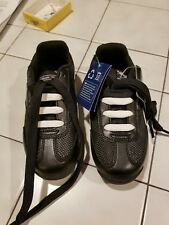 Reebok boys athletic shoes youth size 11. NIB Black with white stripes on  sides e267271878e
