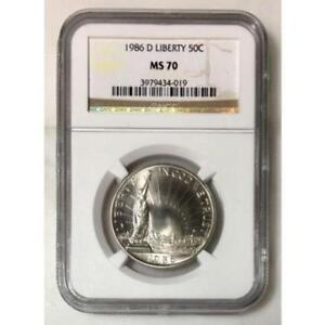 1986 D Liberty Half Dollar NGC MS70 *Rev Tye's* #4019190