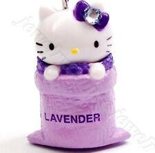 Hello Kitty Swarovski Elements Crystals Japan Hokkaido Lavender Pendant Charm