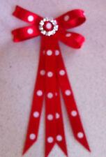 Junior Rider Equestrian Hair Ribbon Bow - Red Satin *New*