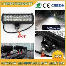 54W 9 INCH CREE LED Light Bar Spot Off road Jeep Truck SUV 4WD Bumper Pickup ATV
