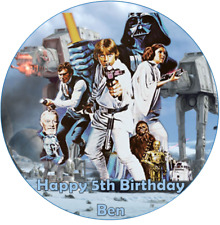 Personalised 19cm Star Wars Edible Wafer Paper Cake Topper