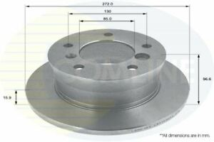FOR MERCEDES-BENZ G-CLASS 2.7 L COMLINE REAR COATED BRAKE DISCS ADC1609