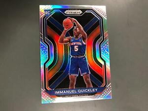 Immanuel Quickley 2020/21 Prizm Silver Prizms Rookie Card RC #296 Knicks T17