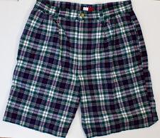 Vintage Tommy Hilfiger Mens Plaid Pleated Shorts Size 32