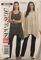 See & Sew Sewing Pattern #B5203 Misses Petite Tunic Pants 2008 Sz 8/10 12/14