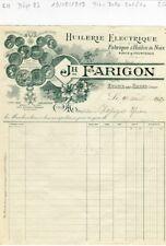 Dépt 23 - Evaux les Bains - Belle Entête d'une Huilerie Huile de Noix de 1913