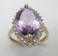 Yellow Gold Amethyst Ring Vintage Fine Jewellery (1960s)
