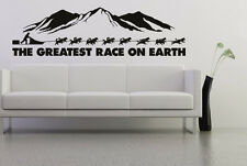 Wall art ALASKA Sled dog razza HUSKY MALAMUTE Adesivo Decalcomania una muta di husky siberiano