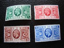 ROYAUME-UNI - timbre yvert/tellier n° 201 a 204 n** (A8)stamp united kingdom(A