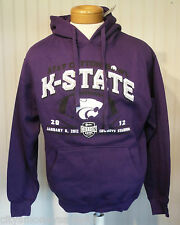 NWT Kansas State Wildcats Mens 2012 Cotton Bowl Centurion Hoodie L Purple $50