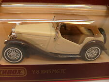 1977 MATCHBOX MODELS OF YESTERYEAR 1:35 SCALE Y-8 BROWN/CREAM 1945 MG TC MIB