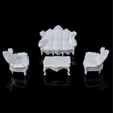 1Set Dollhouse Miniatures Living Room Furniture White Table Sofa Ga