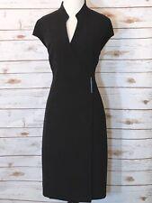 Calvin Klein Women's Blazer Dress Long Sleeves Collared Size 12 In Black