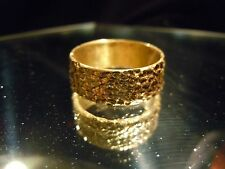 WHY WEAR 10K14K US PLACER 22K SOLID GOLD SZ9-13 RING JOEY NICKS ANARCHY JEWELRY