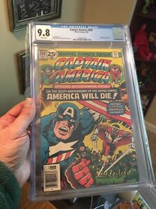 Captain America #200 CGC 9.8 White Pages! Hard to Find High Grade! Bicentennial