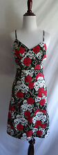 Paper Doll Productions S Punk Rockabilly Skull Rose Thorns Wiggle Pin Up Dress