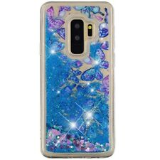 Voor Samsung Galaxy S9 Plus Liquid Glitter Bling Case Shockproof Silicone Cover