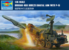 Trumpeter 01035 1/35 Scale Russian 4K51 Rubezh Coastal ASM with P-15 Model Kits