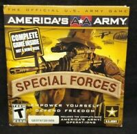 Americas Army Special Forces -  PC CD-ROM Game Complete Mint Discs 1 Owner