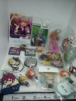 42pc Happy elements otome figure keychain strap charm pin badge button anime lot