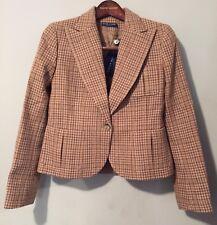 Ralph Lauren Women's Brown Check Wool Blazer ( Made in Italy) Sz 8