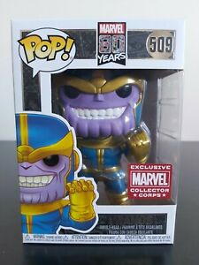 Marvel Funko Pop - Thanos - 80th Anniversary - Marvel Collector Corp - No. 509