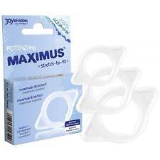 kit 3 anelli per ritardare eiaculazione anelli fallici MAXIMUS Set XS-S-M cock