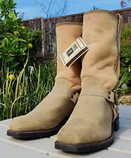 "Frye shearling harness boots NWT RARE # 971048  11D made in USA 12"" shaft"
