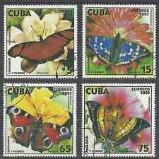 Timbres Papillons 4107/10 o lot 19921