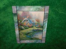"""Thomas Kinkade """"Spring"""" The Bradford Exchange glass tile panel with Coa"""
