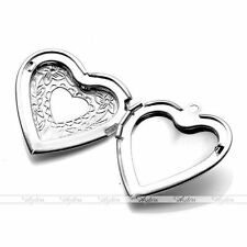 Silver Plated Heart Friendship Picture Frame Locket Pendant For Necklace DIY