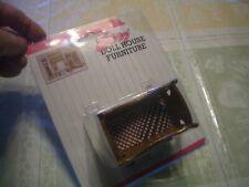 Dollhouse Mini Beautiful Medium Dark Stained Wood Cradle #05108, Mint/Ob L@K!