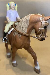 Schleich Farm Life #13631 Tennessee Walking Stallion & #40182 Show Riding Set