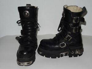 NEW ROCK Stiefel Gr. 40 schwarz Gothic Motorradstiefel Boots Schuhe Leder