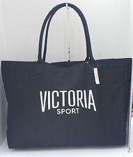 Victoria's Secret Large Black Sport Tote Carry All Beach Gym Bag Handbag NWT