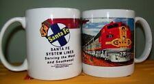 SANTA FE RAILROAD COFFEE MUG - // Super Chief // Collectible Cup // Train Art